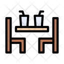 Table Chair Drinks Icon