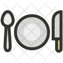 Dinner Knife Plate Icon