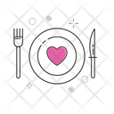 Kitchen Kettle Love Plate Icon
