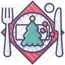 Decoration Christmas Holiday Dinner Icon
