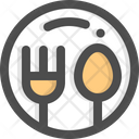 Dinner Food Plate Icon