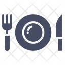Dinner Plate Fork Icon