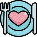 Plate Dish Love Icon