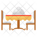 Dating Furniture Dinner Icon