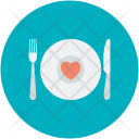 Dinner Date Plate Icon