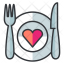 Date Dinner Meal Icon