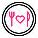 Food Love Fork Icon