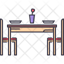 Dinner Table Chair Icon