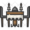 Dinner Dinner Table Dining Table Icon