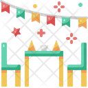 Dinner Table Dining Table Party Icon