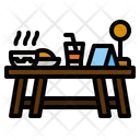 Dinner Table Table Date Icon