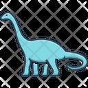 Dinosaur Dangerous Herbivore Icon