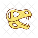 Dinosaur Animal Skeleton Icon