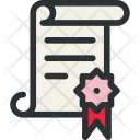 Diploma Certificate Reference Icon