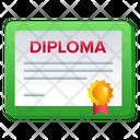 Diploma Degree Certificate Icon