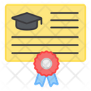 Degree Diploma Certificate Icon