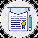 Diploma Certificate Degree Icon