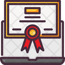 Certificate Diploma Elearning Icon