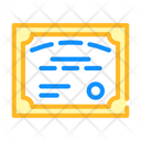 Student Diploma Color Icon