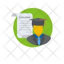 Diploma Holder Certificate Holder Graduate Icon