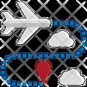 Direct Flight One Way Flight Icon