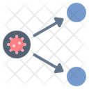 Direct Transmission Spread Icon