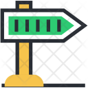 Direction Post Sign Icon