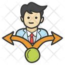 Career Path Direction Employee Direction Icon
