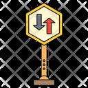 Direction Board Traffic Icon