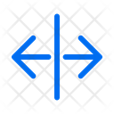 Direction Arrows Split Icon