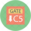 Direction Gate Information Icon