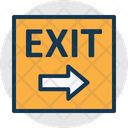 Direction Arrow Emergency Sign Exit Icon
