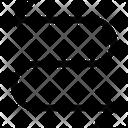 Semicycle Orientation Arrow Icon