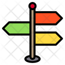 Signpost Pin Locations Icon