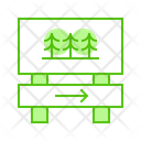 Forest Tree Direction Icon