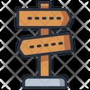 Post Sign Signal Signage Icon