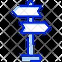Direction Board Sign Board Icon