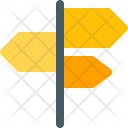 Road Direction Sign Icon