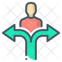 Choice Person Arrows Icon
