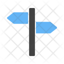 Post Sign Direction Icon