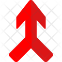 Directional Arrow Merging Traffic Sign Road Indication Icon
