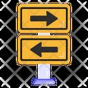 Road Arrows Directional Arrows Road Traffic Board Icon