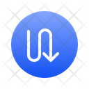 Directional Down Left Arrow Icon