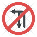 Directional Prohibitory Sign Icon