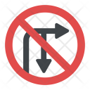Directional Prohibitory Sign Icon