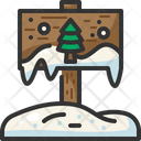 Directional Sign Xmas Signpost Icon