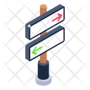 Road Board Directional Sign Directions Icon
