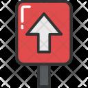 Arrow Upward Sign Icon