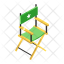 Director Chair Furniture Studio Chair Icon