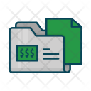 Directory Document Dollar Icon
